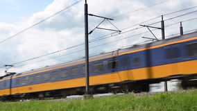 Intercity train of the Dutch Railways stock video