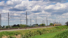 Intercity train of the Dutch Railways stock video footage