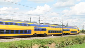 Intercity train of the Dutch Railways stock footage
