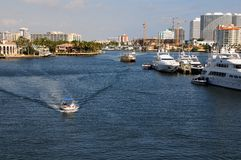 Intercoastal marina, boats, Florida Royalty Free Stock Images