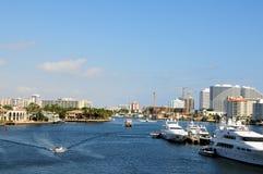 Intercoastal marina, boats in Florida Stock Photography