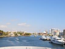Intercoastal marina, boats, yachts Florida Stock Photos