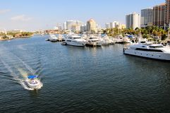 Intercoastal marina, boats, yachts, Florida Stock Image