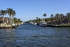 Intercoastal Waterway in Fort Lauderdale Stock Image