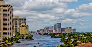 The Intercoastal waterway in Miami, Florida. Royalty Free Stock Photo