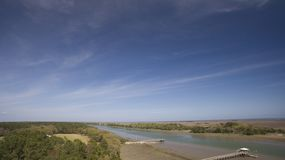 INtercoastal Waterweg van Awendawsc Royalty-vrije Stock Foto