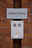 Intercom directors bell ring Stock Photos