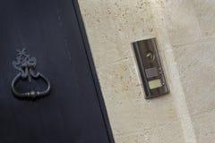 Intercom and door knocker Stock Photo