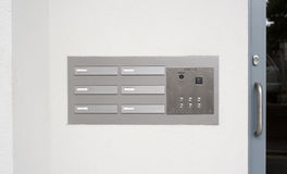Intercom doorbell and access code panel Royalty Free Stock Images