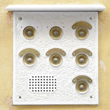 Intercom doorbell panel Stock Image