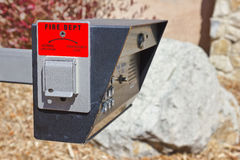 Intercom with Emergency Open Royalty Free Stock Photos
