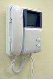 Intercom mounted on wall Royalty Free Stock Photography