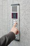 Intercom visuel dans l'entrée d'une maison Photos libres de droits