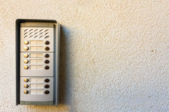 Intercom on the wall Royalty Free Stock Photo