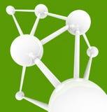 Intercomunicação - esferas conectadas Fotografia de Stock Royalty Free