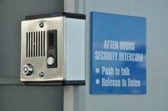 Intercomunicador de la seguridad Fotos de archivo