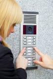 Intercomunicador video Imagens de Stock