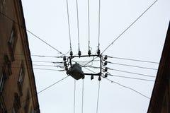 Interconexão elétrica exterior Fotos de Stock Royalty Free