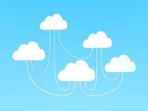Interconnected cloud computing Stock Photos