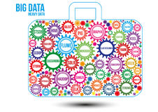 Interconnected colored big data technology gears Stock Images