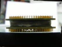 interconnected framtida information om det centrala begreppet microchipen som behandlar processorn som mottar överföra teknologie royaltyfri fotografi