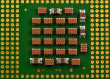 interconnected framtida information om det centrala begreppet microchipen som behandlar processorn som mottar överföra teknologie royaltyfri bild