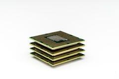 interconnected framtida information om det centrala begreppet microchipen som behandlar processorn som mottar överföra teknologie arkivbilder