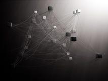 Interconnected kuber Fotografering för Bildbyråer