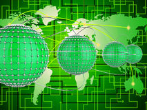 Interconnected Network Represents Networks Globe And World Stock Photography