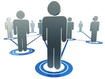 Interconnected people figures Stock Images