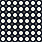 Interconnected seamless pattern texture in dark blue and cream colors royalty free stock images