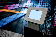 Interconnected trampolines for indoor jumping Stock Image