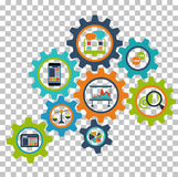 Interconnection Business Processes Royalty Free Stock Photo