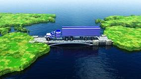 Intercontinentaal ladingsvervoer vector illustratie