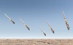 Intercontinental Ballistic Missile Stock Photo