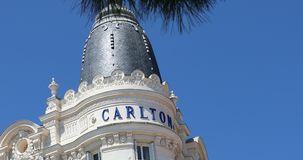 InterContinental Carlton Cannes Hotel. Cannes, France - May 14, 2019: Luxury InterContinental Carlton Cannes Hotel On The Croisette In Cannes, France, French
