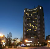 Intercontinental hotel in Bucharest stock photo