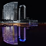 Intercontinental Hotel Dubai reflection Dubai color Royalty Free Stock Photo