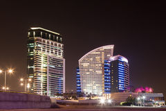 Intercontinental Hotel at night, Dubai Royalty Free Stock Photography