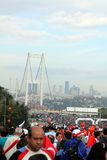 Intercontinental Istanbul Eurasia Marathon Stock Images