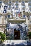 Intercontinentale Carlton Cannes Hotel-ingang Royalty-vrije Stock Foto