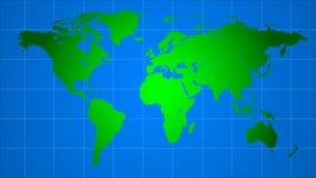 Intercontinentale vluchten op de wereldkaart vector illustratie