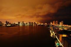 Intercostero en la noche Fotos de archivo libres de regalías