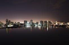 Intercostero en la noche Fotografía de archivo