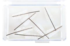 Interdental Brush Refills in plastic box Stock Photo
