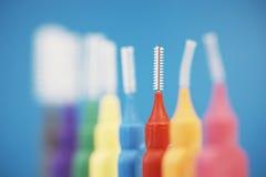 Interdental tandenborstels Royalty-vrije Stock Foto's