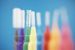 Interdental toothbrushes Stock Images
