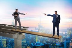 The interdependancy concept with two businessmen. Interdependancy concept with two businessmen Stock Image