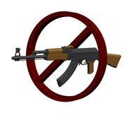 Interdicción del arma Foto de archivo