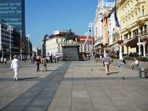 Interdiction carrée Jelacic, Zagreb Photo libre de droits